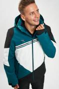 Оптом Горнолыжная куртка мужская темно-зеленого цвета 77016TZ в Екатеринбурге