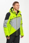 Оптом Горнолыжная куртка мужская зеленого цвета 77016Z в Екатеринбурге, фото 3