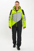 Оптом Горнолыжная куртка мужская зеленого цвета 77016Z в Екатеринбурге, фото 12