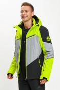 Оптом Горнолыжная куртка мужская зеленого цвета 77016Z в Екатеринбурге, фото 4