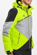 Оптом Горнолыжная куртка мужская зеленого цвета 77016Z в Екатеринбурге, фото 8