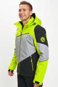 Оптом Горнолыжная куртка мужская зеленого цвета 77016Z в Екатеринбурге, фото 2