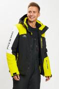Оптом Горнолыжная куртка мужская желтого цвета 77018J в Екатеринбурге, фото 2