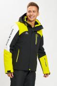 Оптом Горнолыжная куртка мужская желтого цвета 77018J в Екатеринбурге, фото 4