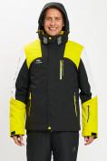 Оптом Горнолыжная куртка мужская желтого цвета 77018J в Екатеринбурге