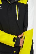 Оптом Горнолыжная куртка мужская желтого цвета 77018J в Екатеринбурге, фото 8