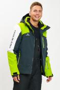 Оптом Горнолыжная куртка мужская зеленого цвета 77018Z в Екатеринбурге, фото 2