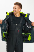 Оптом Горнолыжная куртка мужская зеленого цвета 77018Z в Екатеринбурге, фото 10