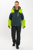 Оптом Горнолыжная куртка мужская зеленого цвета 77018Z в Екатеринбурге, фото 3