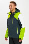 Оптом Горнолыжная куртка мужская зеленого цвета 77018Z в Екатеринбурге, фото 4