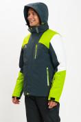 Оптом Горнолыжная куртка мужская зеленого цвета 77018Z в Екатеринбурге, фото 6