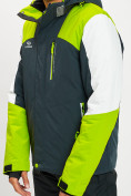 Оптом Горнолыжная куртка мужская зеленого цвета 77018Z в Екатеринбурге, фото 8