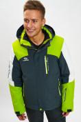 Оптом Горнолыжная куртка мужская зеленого цвета 77018Z в Екатеринбурге, фото 9