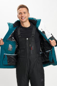 Оптом Горнолыжная куртка мужская темно-зеленого цвета 77019TZ в Екатеринбурге, фото 5
