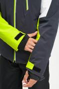 Оптом Горнолыжная куртка мужская зеленого цвета 77019Z в Екатеринбурге, фото 2