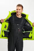 Оптом Горнолыжная куртка мужская зеленого цвета 77019Z в Екатеринбурге, фото 10