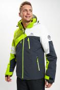 Оптом Горнолыжная куртка мужская зеленого цвета 77019Z в Екатеринбурге, фото 3