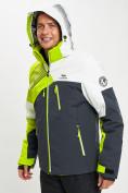 Оптом Горнолыжная куртка мужская зеленого цвета 77019Z в Екатеринбурге, фото 4