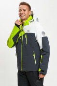 Оптом Горнолыжная куртка мужская зеленого цвета 77019Z в Екатеринбурге, фото 6