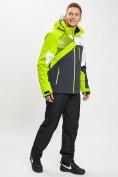 Оптом Горнолыжная куртка мужская зеленого цвета 77019Z в Екатеринбурге, фото 7