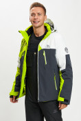 Оптом Горнолыжная куртка мужская зеленого цвета 77019Z в Екатеринбурге, фото 9