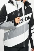 Оптом Горнолыжная куртка мужская белого цвета 77022Bl в Екатеринбурге, фото 5