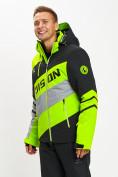 Оптом Горнолыжная куртка мужская зеленого цвета 77022Z в Екатеринбурге, фото 10