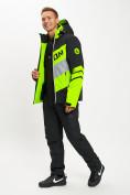 Оптом Горнолыжная куртка мужская зеленого цвета 77022Z в Екатеринбурге, фото 12