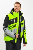 Оптом Горнолыжная куртка мужская зеленого цвета 77022Z в Екатеринбурге, фото 13