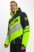 Оптом Горнолыжная куртка мужская зеленого цвета 77022Z в Екатеринбурге, фото 2