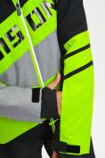 Оптом Горнолыжная куртка мужская зеленого цвета 77022Z в Екатеринбурге, фото 4