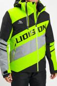 Оптом Горнолыжная куртка мужская зеленого цвета 77022Z в Екатеринбурге
