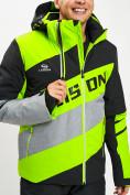 Оптом Горнолыжная куртка мужская зеленого цвета 77022Z в Екатеринбурге, фото 6