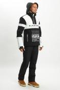 Оптом Горнолыжная куртка анорак мужская белого цвета 77024Bl в Екатеринбурге, фото 10