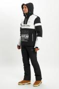 Оптом Горнолыжная куртка анорак мужская белого цвета 77024Bl в Екатеринбурге, фото 11
