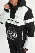 Оптом Горнолыжная куртка анорак мужская белого цвета 77024Bl в Екатеринбурге, фото 2