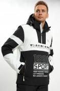 Оптом Горнолыжная куртка анорак мужская белого цвета 77024Bl в Екатеринбурге, фото 3