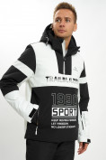 Оптом Горнолыжная куртка анорак мужская белого цвета 77024Bl в Екатеринбурге, фото 4