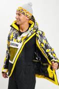 Оптом Горнолыжная куртка анорак мужская желтого цвета 77027J в Екатеринбурге, фото 11