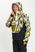 Оптом Горнолыжная куртка анорак мужская желтого цвета 77027J в Екатеринбурге, фото 8