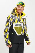 Оптом Горнолыжная куртка анорак мужская желтого цвета 77027J в Екатеринбурге, фото 10