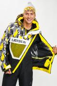 Оптом Горнолыжная куртка анорак мужская желтого цвета 77027J в Екатеринбурге