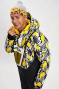Оптом Горнолыжная куртка анорак мужская желтого цвета 77027J в Екатеринбурге, фото 2
