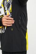 Оптом Горнолыжная куртка анорак мужская желтого цвета 77027J в Екатеринбурге, фото 4