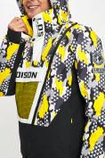 Оптом Горнолыжная куртка анорак мужская желтого цвета 77027J в Екатеринбурге, фото 6
