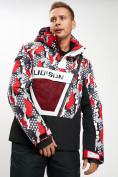 Оптом Горнолыжная куртка анорак мужская красного цвета 77027Kr в Екатеринбурге, фото 3