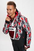 Оптом Горнолыжная куртка анорак мужская красного цвета 77027Kr в Екатеринбурге, фото 4
