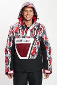 Оптом Горнолыжная куртка анорак мужская красного цвета 77027Kr в Екатеринбурге