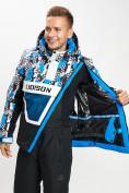 Оптом Горнолыжная куртка анорак мужская синего цвета 77027S в Екатеринбурге, фото 2