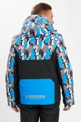 Оптом Горнолыжная куртка анорак мужская синего цвета 77027S в Екатеринбурге, фото 10